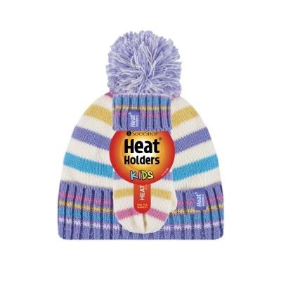 Žieminė kepurė ir kumštinės pirštinės mergaitėms HEAT HOLDERS, žakardas