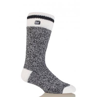 HEAT HOLDERS CREAM BLOCK TWIST šiltos vyriškos kojinės, juodos