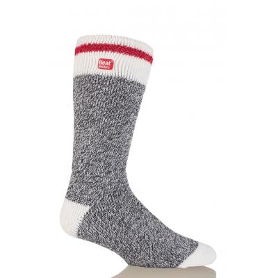 HEAT HOLDERS CREAM BLOCK TWIST šiltos vyriškos kojinės, anglies