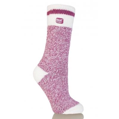 HEAT HOLDERS CREAM BLOCK TWIST šiltos moteriškos kojinės, avietinės