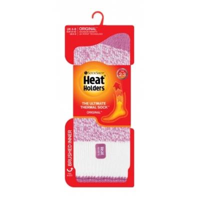 Šiltos moteriškos kojinės, HEAT HOLDERS CREAM BLOCK TWIST