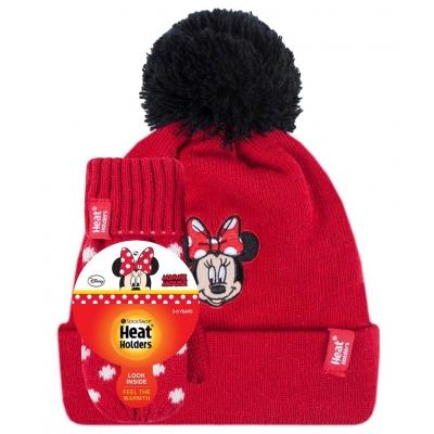 Žieminė kepurė ir kumštinės pirštinės mergaitėms HEAT HOLDERS, Minnie