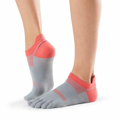 Pirštuotos neslystančios kojinės, Sport Perfdry LoLo, Papaya/ ToeSox