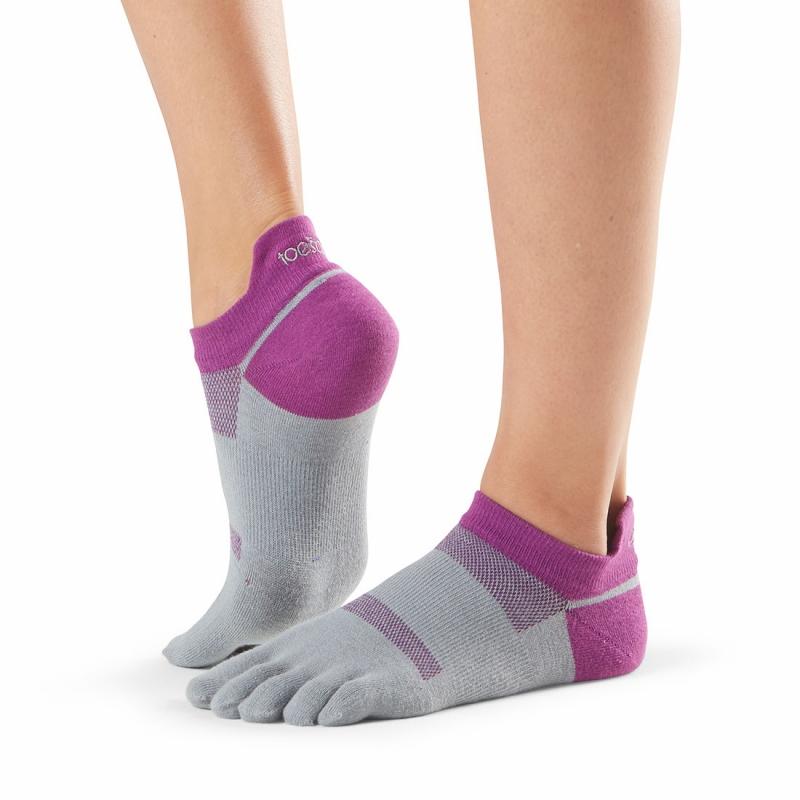 Pirštuotos neslystančios kojinės, Sport Perfdry LoLo, Orchid/ ToeSox