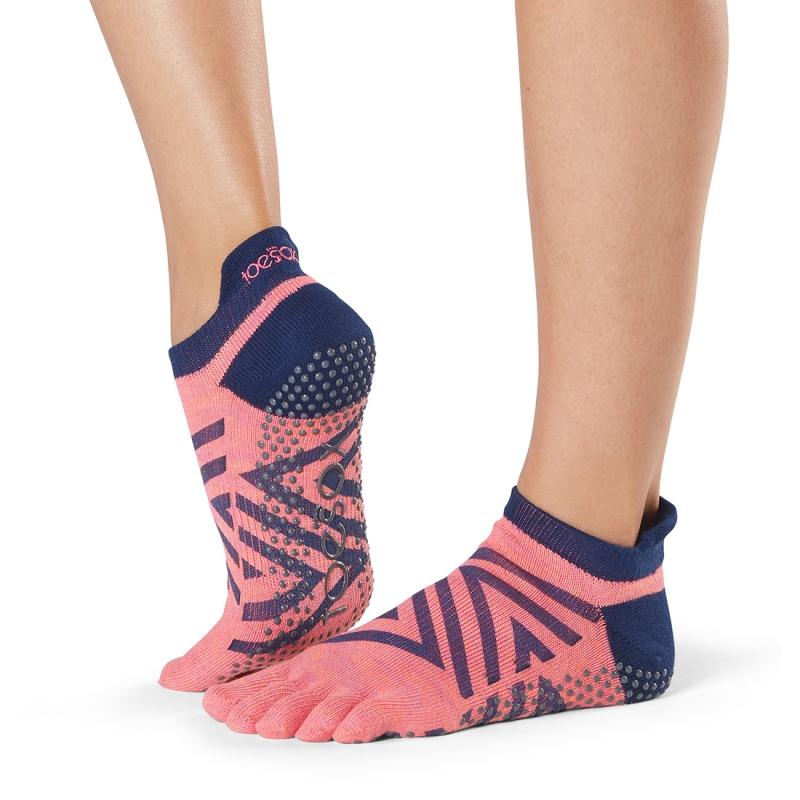 Pirštuotos neslystančios kojinės, Lowrise, Fame/ ToeSox