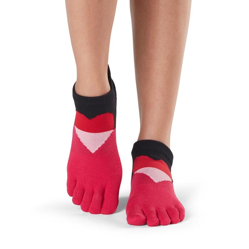 Pirštuotos neslystančios kojinės, Lowrise, Passion/ ToeSox