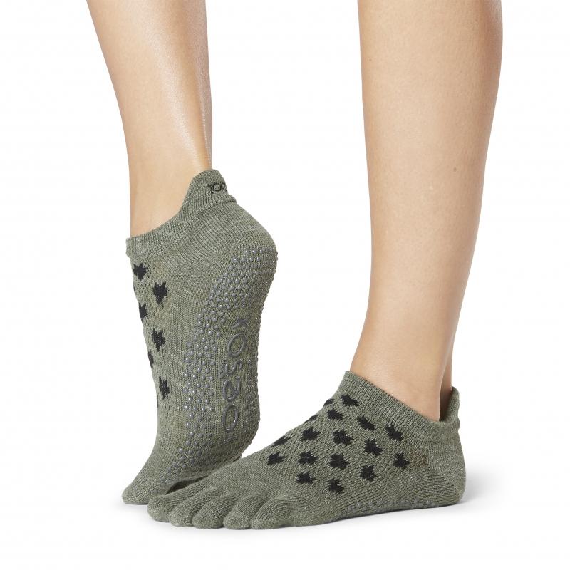 Pirštuotos neslystančios kojinės, Lowrise, Mischief/ ToeSox