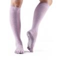 TOESOX Scrunch knee pirštuotos neslystančios ilgos kojinės, deimantinė frezija