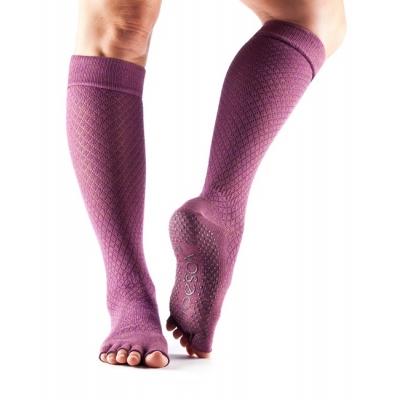 Bepirštės šokių kojinės TOESOX Scrunch knee, saldžios
