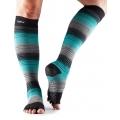 Bepirštės šokių kojinės TOESOX Scrunch knee, mėnesiena