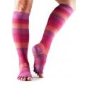 Bepirštės šokių kojinės TOESOX Scrunch knee, triukšmingos