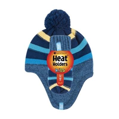Žieminė kepurė ir kumštinės pirštinės berniukams HEAT HOLDERS, mėlis