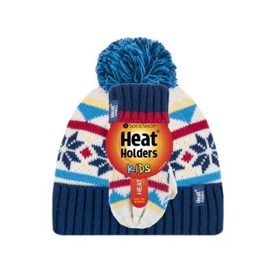 Vaikiška žieminė kepurė ir kumštinės pirštinės, mėlynos